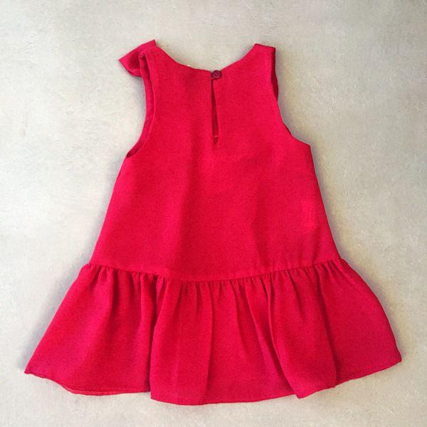 Vestido Mon Sucré Vermelho com Estrelas em Mini Lantejoulas