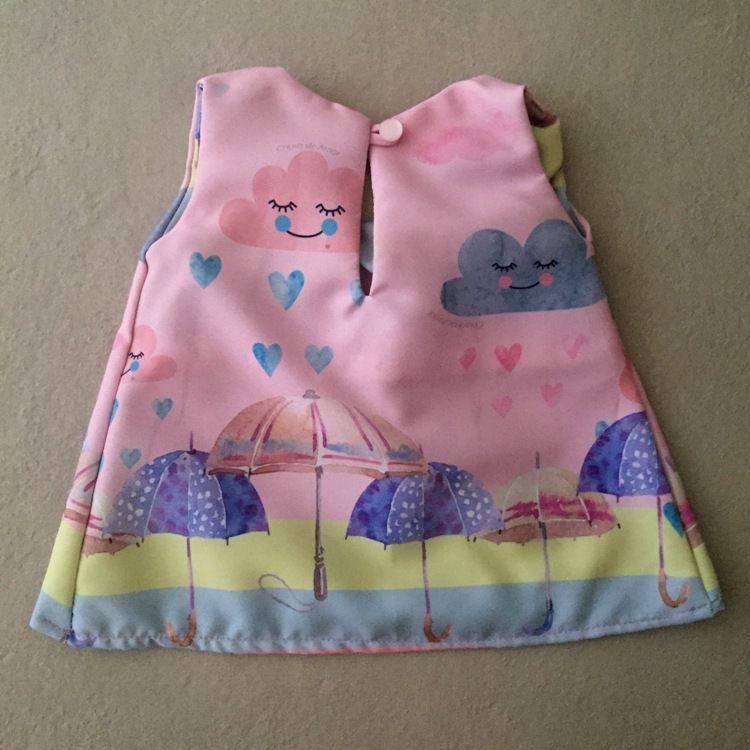 Vestido para Boneca Chuva de Amor