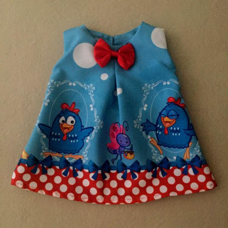 Vestido para Boneca Galinha Azul