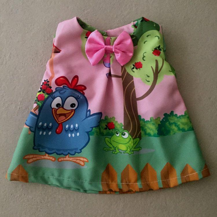 Vestido para Boneca Galinha Rosa