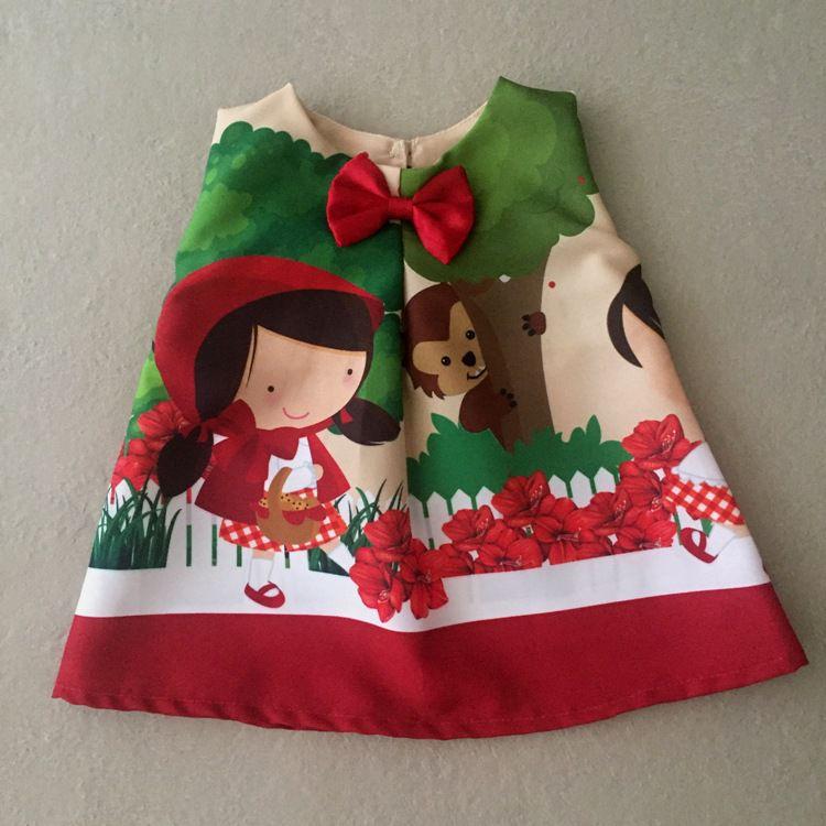 Vestido para Boneca Menina da Capa Vermelha