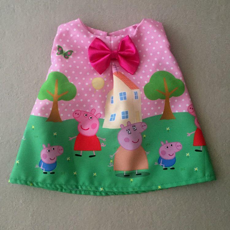 Vestido para Boneca Porquinha