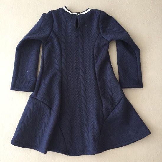 Vestido Petit Cherie em Matelassê Azul Little Sweet Girl