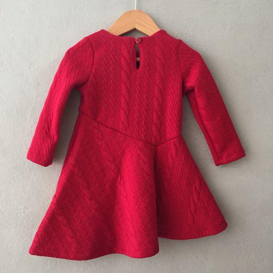 Vestido Petit Cherie em Matelassê Vermelho Little Darling
