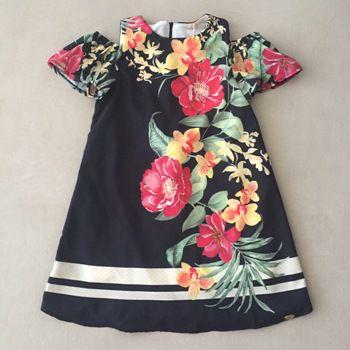 Vestido Petit Cherie Preto Floral