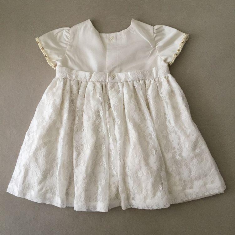 Vestido Infantil Roana Em Tafetá E Renda Offwhite Batizado