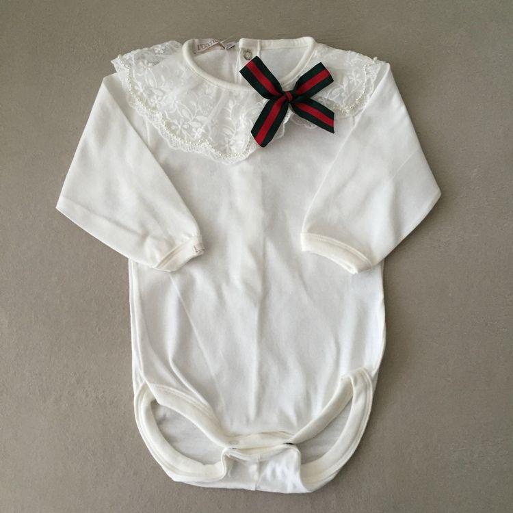 Vestido de Bebê Raposa com Body de Renda Guipir e Pérolas Roana