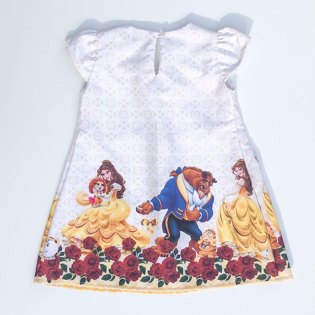 Vestido Temático A Princesa e a Fera
