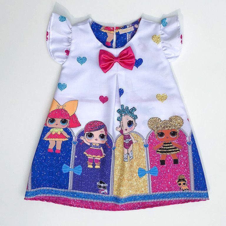 Vestido Trapézio Boneca Surpresa Glitter