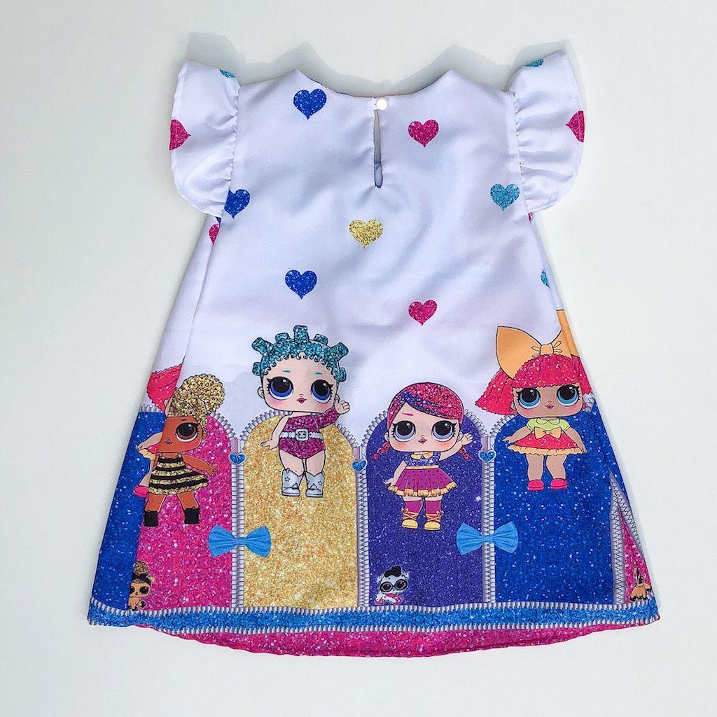 Vestido Temático Boneca Surpresa Glitter