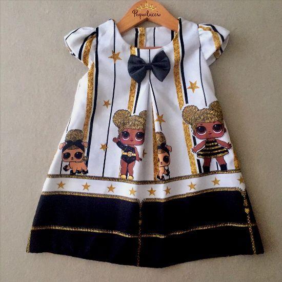 Vestido Trapézio Boneca Surpresa Queen Bee
