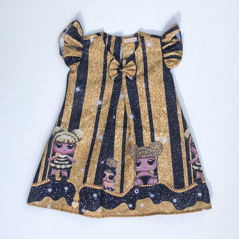 Vestido Temático Boneca Surpresa Queen Bee