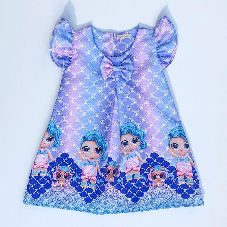 Vestido Temático Boneca Surpresa Sereira