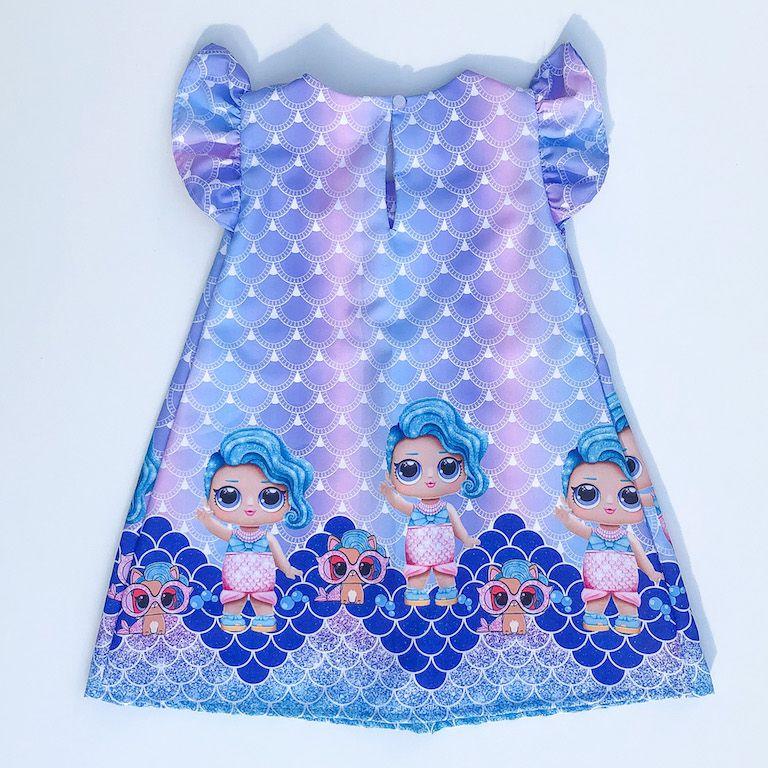 Vestido Trapézio Boneca Surpresa Sereira
