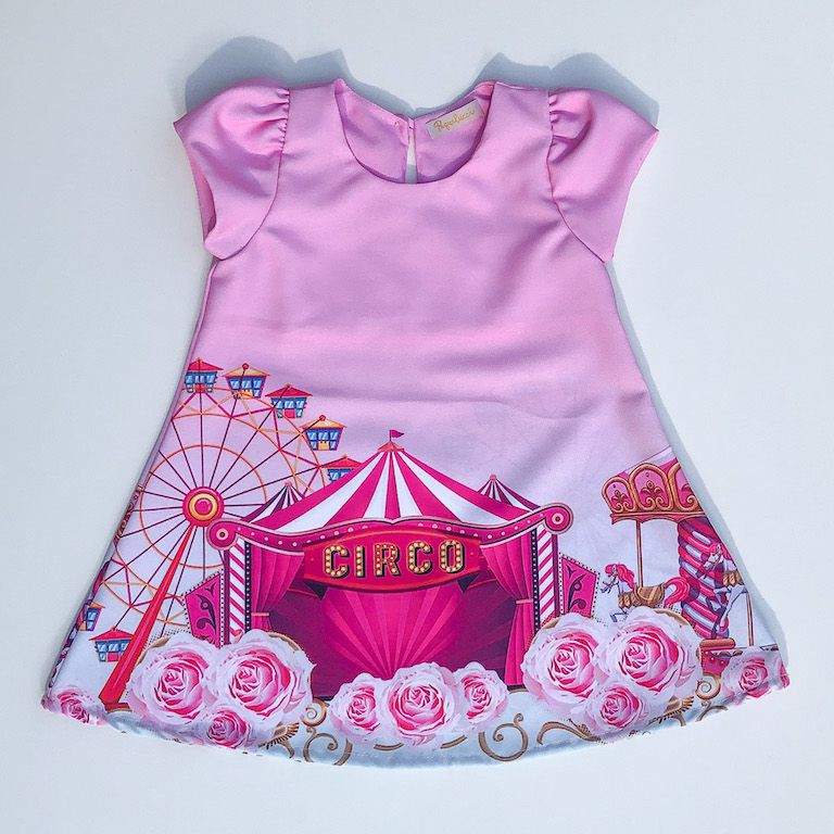 Vestido Trapézio Circo