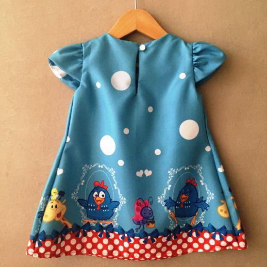 Vestido Trapézio Galinha Azul
