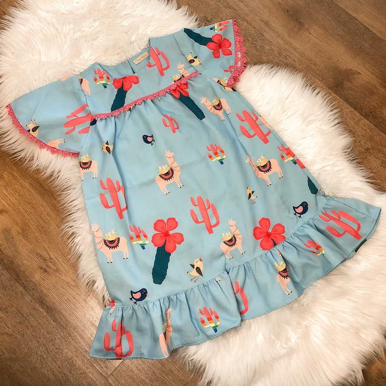 Vestido Trapézio Lhama