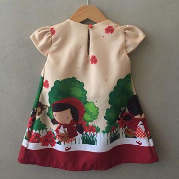 Vestido Trapézio Menina da Capa Vermelha