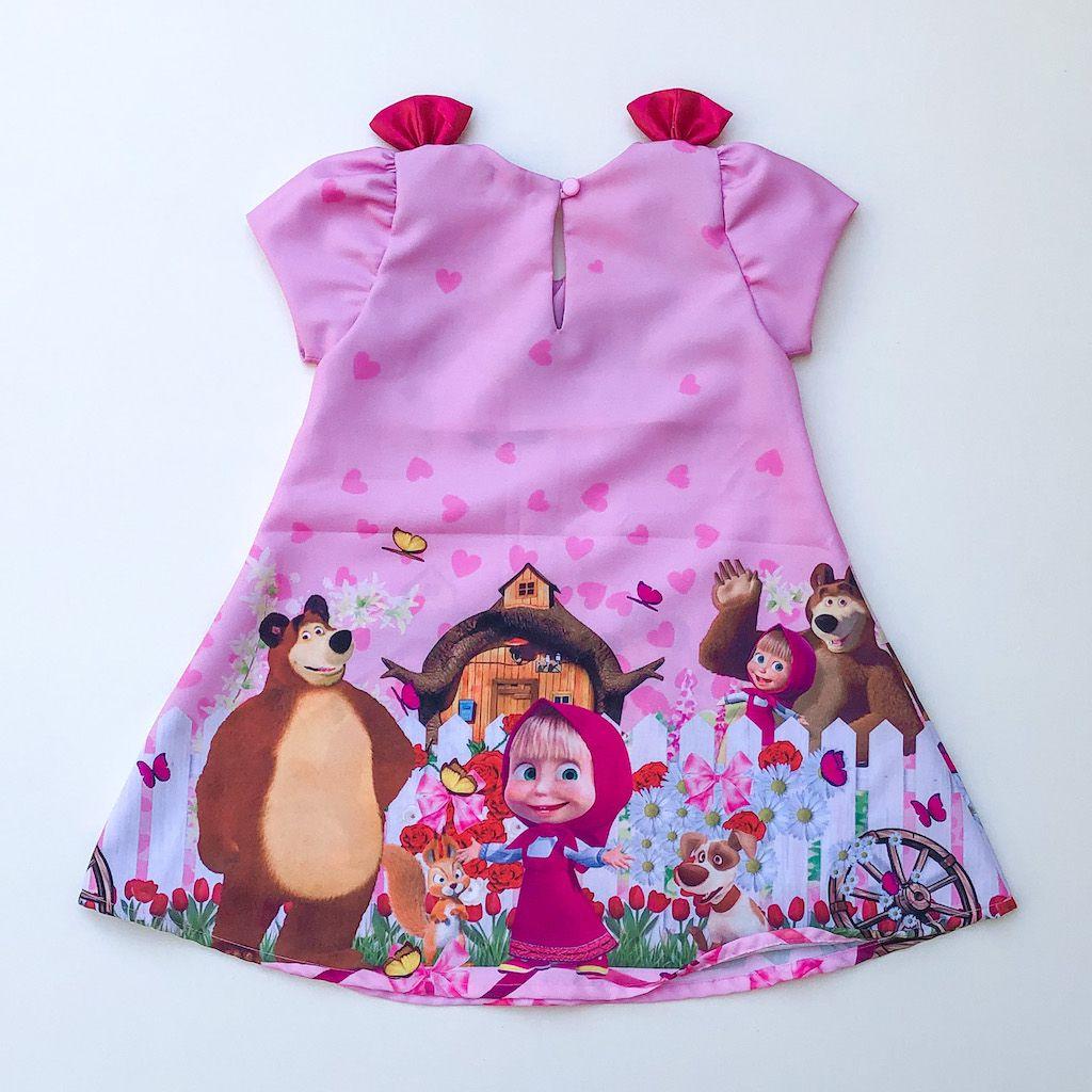 Vestido Temático Menina e o Urso