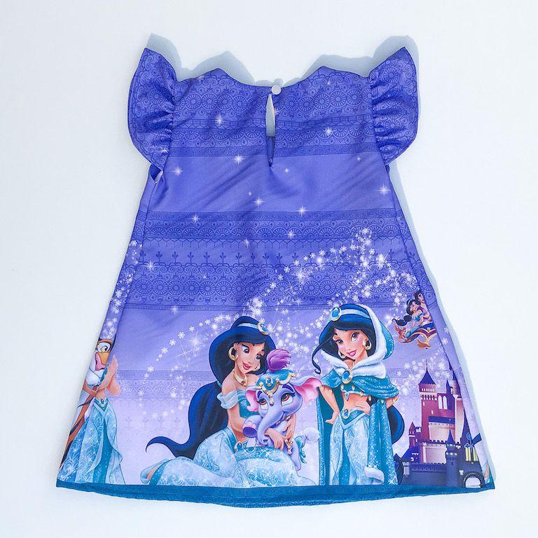 Vestido Trapézio Princesa da Arábia Roxo