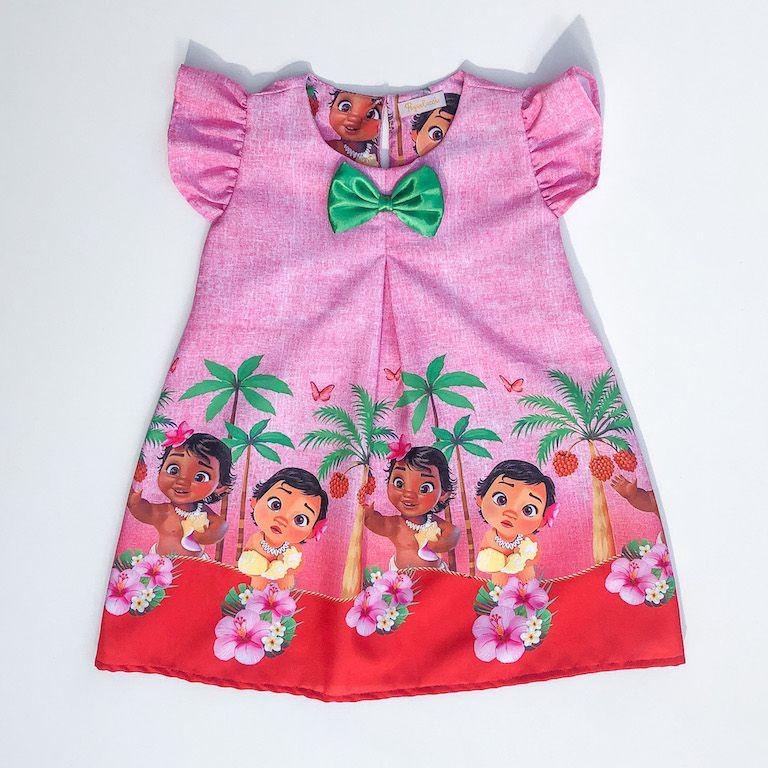 Vestido Trapézio Princesa da Polinésia