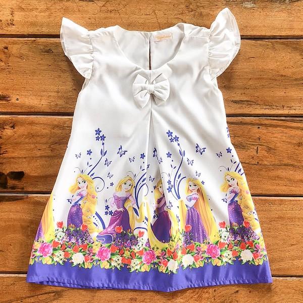 Vestido Temático Princesa Rapunzel