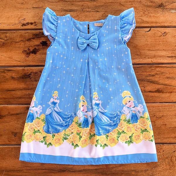 Vestido Temático Princesa Sapatinho de Cristal