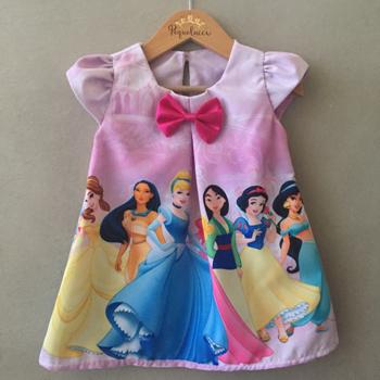 Vestido Trapézio Princesas