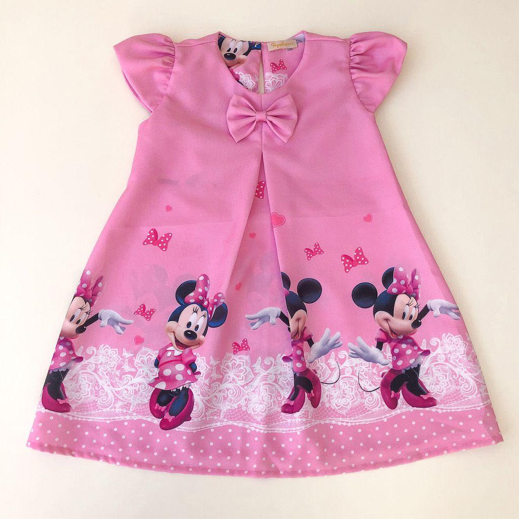 Vestido Trapézio Ratinha Rosa