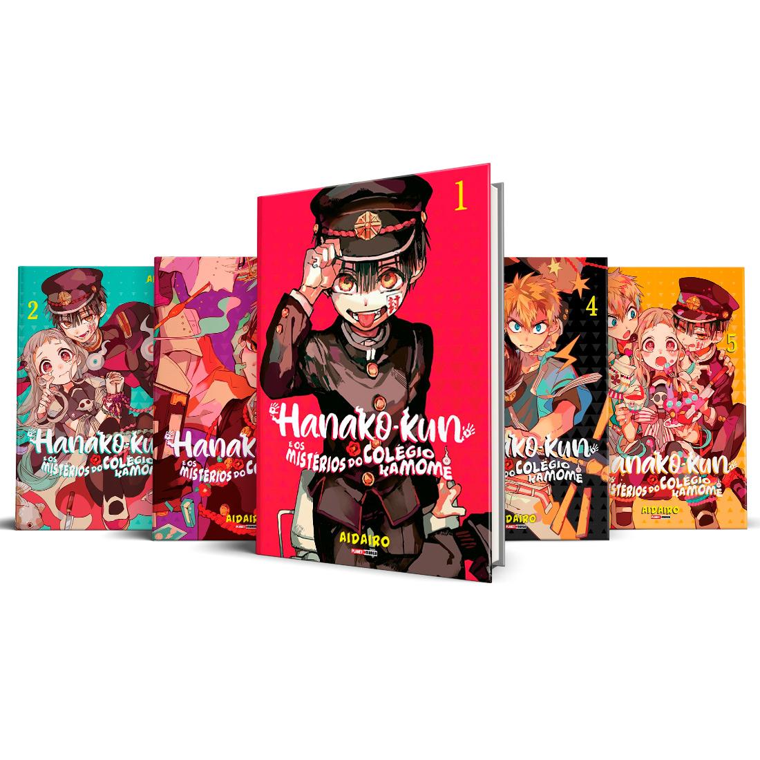 Box Hanako-Kun e os Mistérios do Colégio Kamome Vols. 1 ao 5