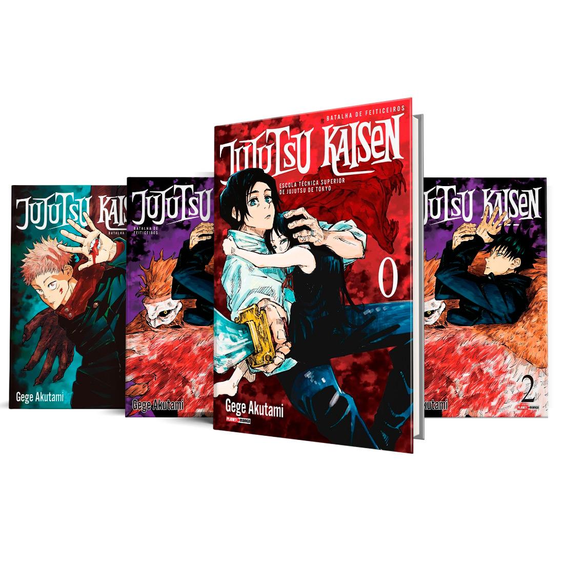 Box Jujutsu Kaisen - Batalha de Feiticeiros Vols. 0 ao 3