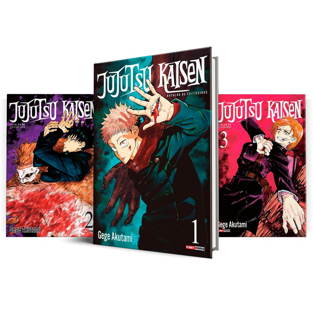 Box Jujutsu Kaisen - Batalha de Feiticeiros Vols. 1 ao 3