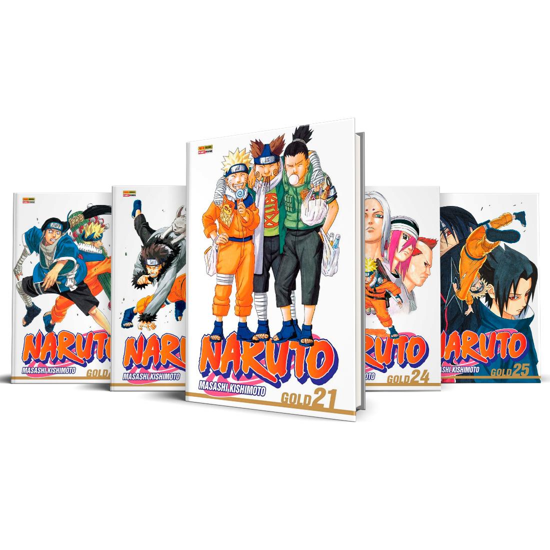 Box Naruto Gold Vols. 21 ao 25