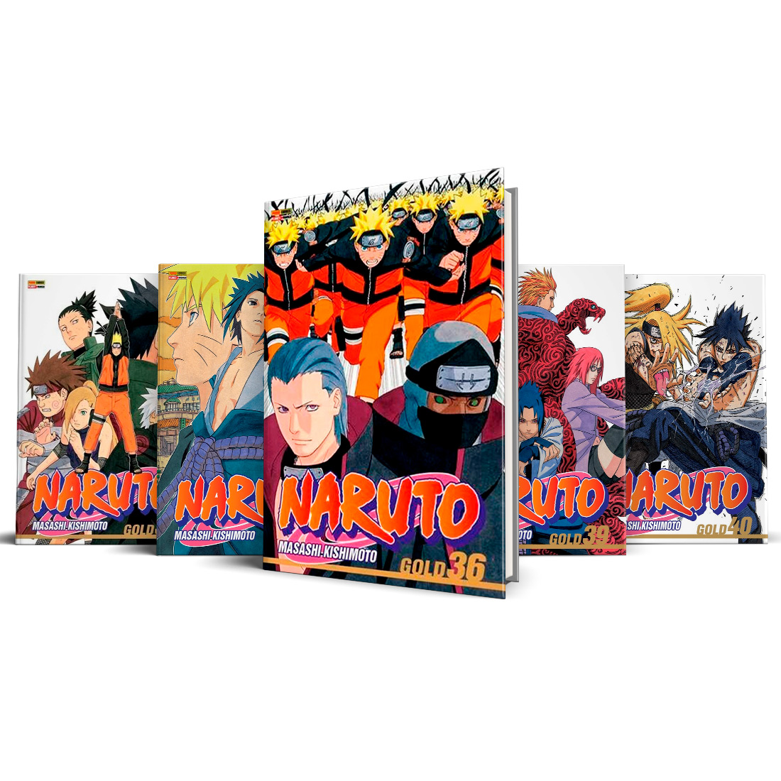 Box Naruto Gold Vols. 36 ao 40