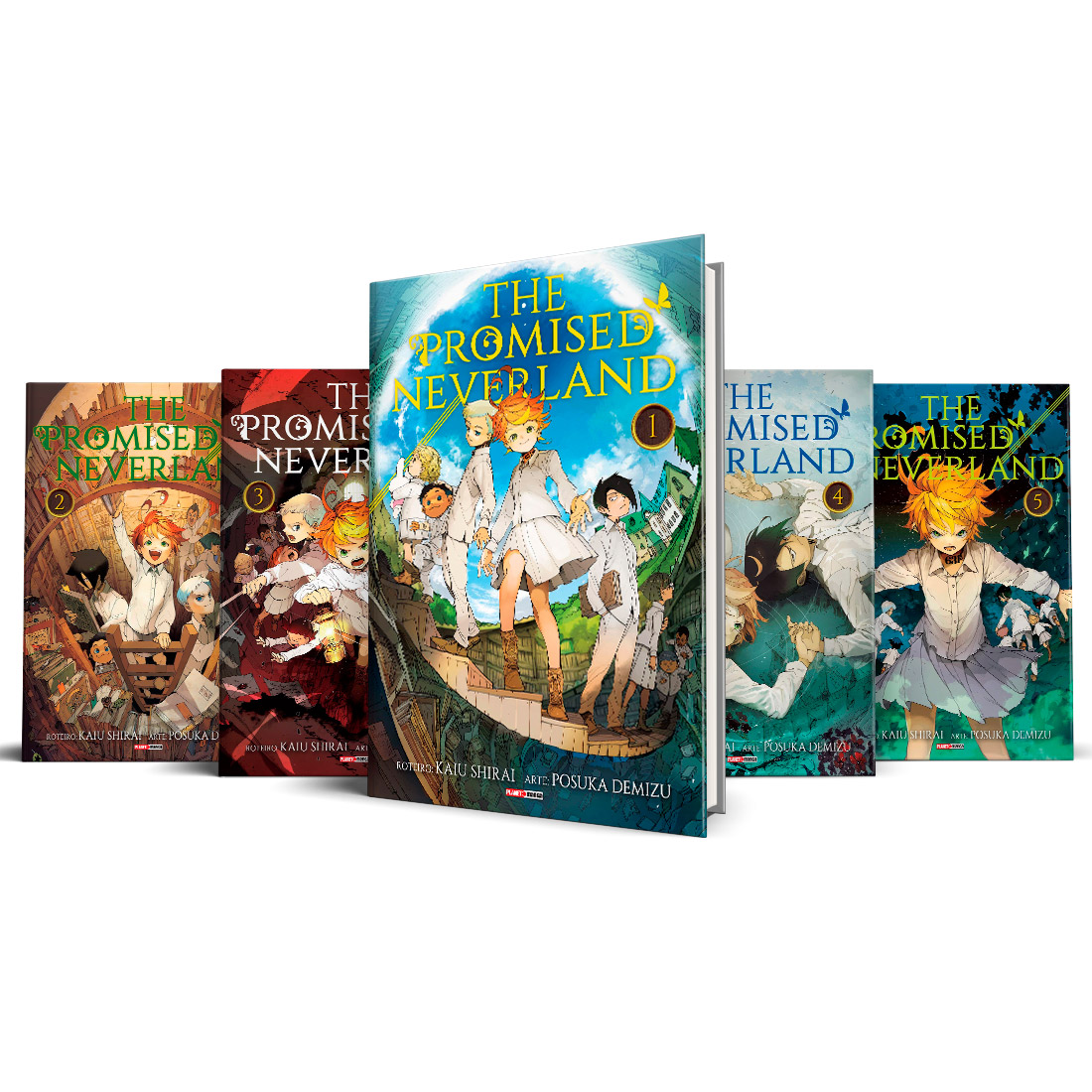 Box The Promised Neverland Vols. 1 ao 5