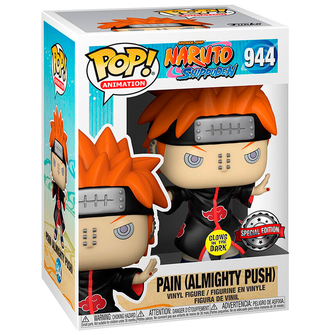 Funko Pop Animation Naruto Shippuden 944 Pain Almighty Push Glows In The Dark Special Edition