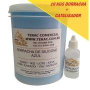Borracha de Silicone para Moldes Azul 10kgs com catalisador - Terac
