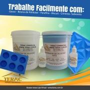 Borracha de Silicone para Moldes Azul com catalisador  - Terac