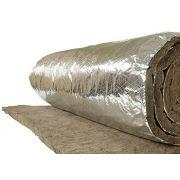 Feltro Lã de Rocha Aluminizado Dens. 32 x 25mm ( Rolo) - Rockfibras