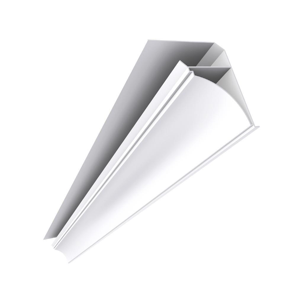 Acabamento (Roda Forro ) Forro PVC Nobre Branco 6mt - (Pç)