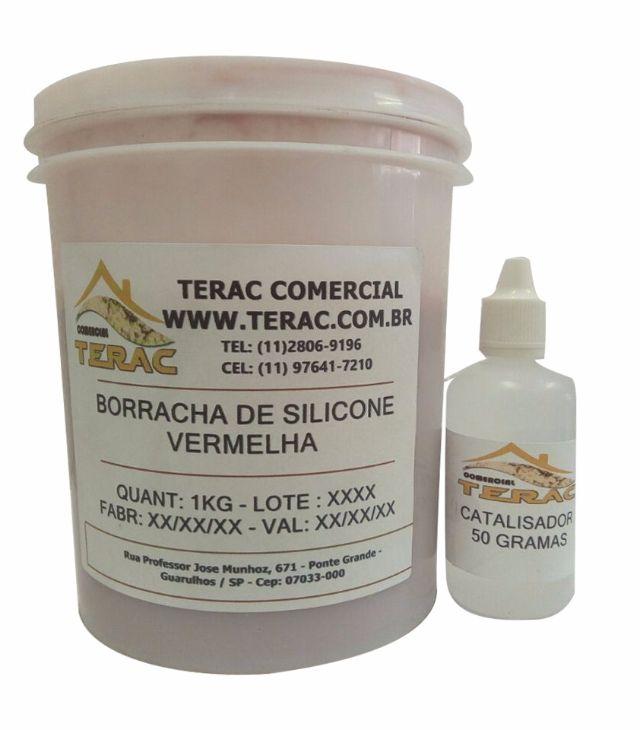 Borracha de Silicone para Altas Temperaturas -  Vermelha 1kg -  Terac