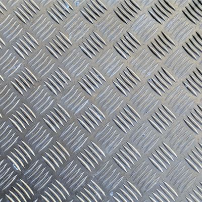 Chapa Xadrez de Alumínio esp. 1,5mm - 2,00 x 1,00m ( Peça)