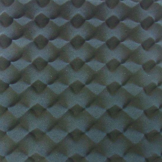 Espuma Acustica Pu Perfilada - Dunas - Cor Cinza Grafite esp. 35mm ( M2)