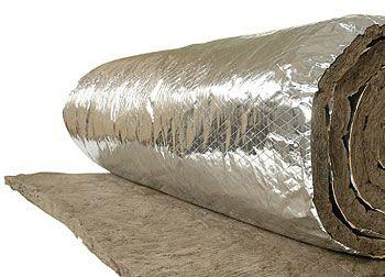 Feltro Lã de Rocha Aluminizado Dens. 32 x 50mm ( Rolo) - Rockfibras