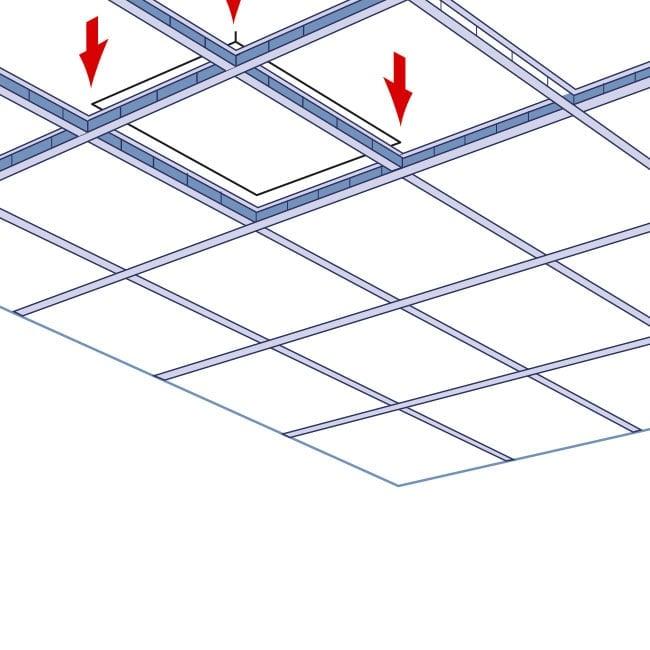 Forro Gesso Removivel Com Pelicula De Pvc FGR 625 x 625 x 9,5mm c/ 8 peças - Terac