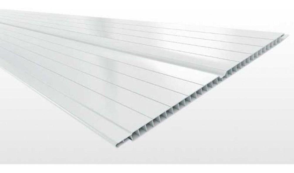 Forro Pvc em Reguas Branco Double Frisado 7mm x 200mm - 5m (Pç)