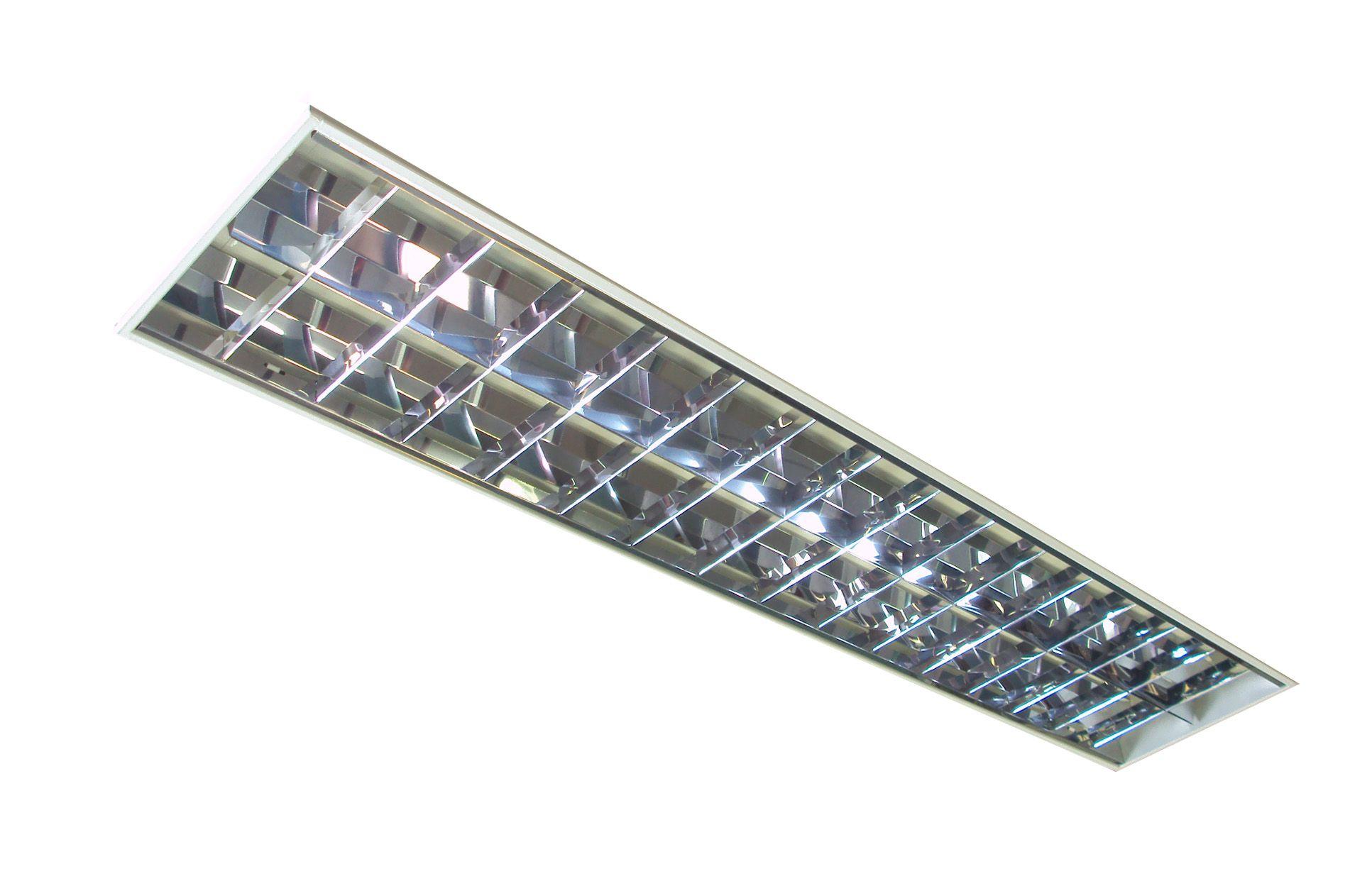 Luminária de Embutir para Forro Modular e Gesso 1242 x 305 x 65mm