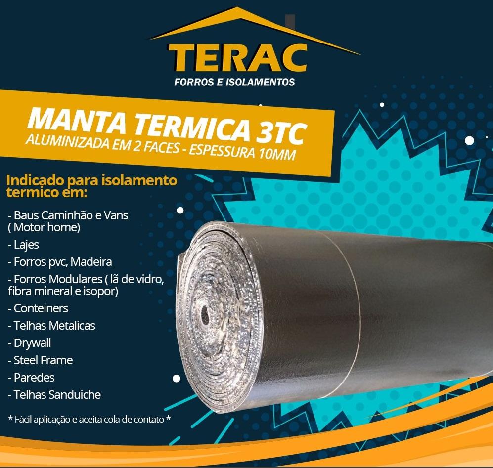 Manta Térmica 3TC esp. 10mm -  8 x 1,25m  ( Rolo) + Fita Aluminizada