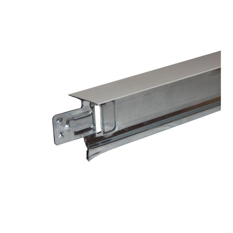 Perfil para Forro Aço T Clicado Longarina 24 x 3125mm (Pç)  Branco - Terac