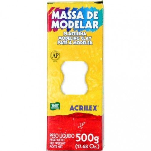 Plastilina Branca - Modeling Clay - 500grs